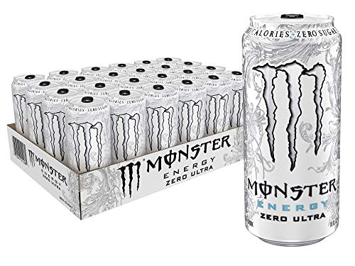 Monster Energy Zero Ultra, Sugar Free Energy Drink, 16 Ounce (Pack of 24)]()