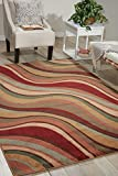"""Nourison Somerset (ST81) Multicolor Rectangle Area Rug, 5-Feet 3-Inches by 7-Feet 5-Inches (5'3"""" x 7'5"""")"""