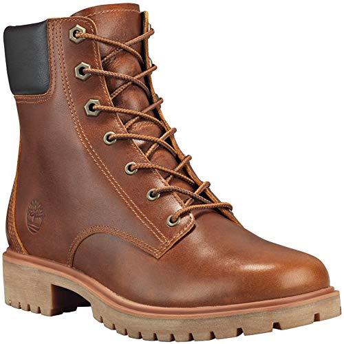Premium Grain Leather - Timberland Jayne 6in Waterproof Boot - Women's Medium Brown Full-Grain, 11.0