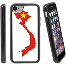 [Map and Flag of Vietnam] For Apple iPhone 6 / 6S (4.7 inches) Hybrid Heavy Duty Armor Shockproof Silicone Cover Rugged case