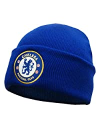Chelsea Football Club Official Soccer Gift Knitted Bronx Beanie Hat Royal Blue