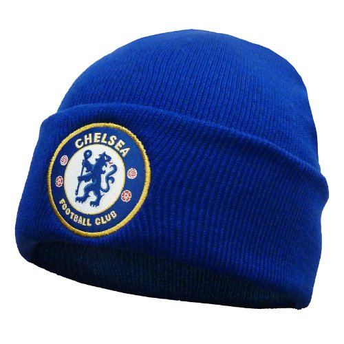 Chelsea Football Club Official Soccer Gift Knitted Bronx Beanie Hat Royal Blue ()