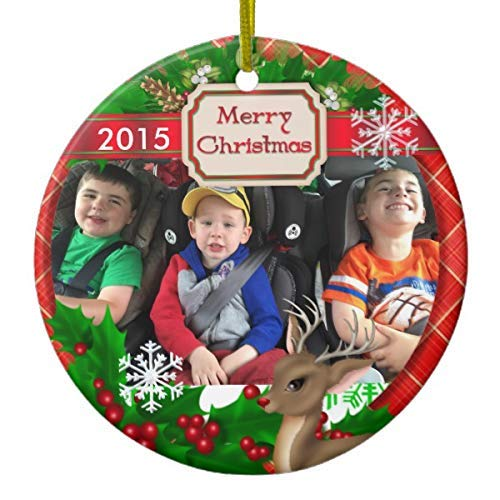 Cheyan 2015 Picture Xmas Trees Home Decorated Ceramic Ornaments Porcelain Ornament Personalize Souvenir Reindeer & Snowflakes