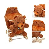 COLORTREE Wooden Rocking Horse for Toddlers, Boys & Girls, Rocking Animal/Rocker/Ride-on Toys for 1-3 Years Old, Stuffed Animal Seat