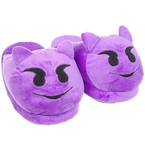 Purple emoji Slippers Slippers Women's Devil emoji Women's Purple Devil Yw0xIxqA