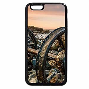 iPhone 6S Plus Case, iPhone 6 Plus Case, old train wheels stranded on a rocky shore