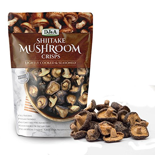 Shiitake Mushroom Crisps - Lightly Cooked and Seasoned 5.29 Ounce (Mushrooms Shiitake Dry)