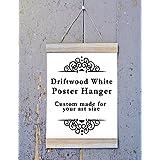 Driftwood White Magnet Wood Poster Hanger, Custom size Art Hanger, poster frame, picture hanger, Natural Wood, Handmade Frame