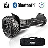 CHO New Generation All Terrain Hoverboard Off-Road Smart Self-Balancing Dual Motors Electric Scooter With Built-In Bluetooth Speaker LED Lights UL2272 Certified