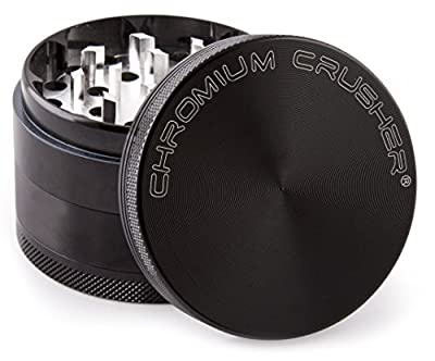 Chromium Crusher 2 Inch 4 Piece Tobacco Spice Herb Grinder - Pick your color