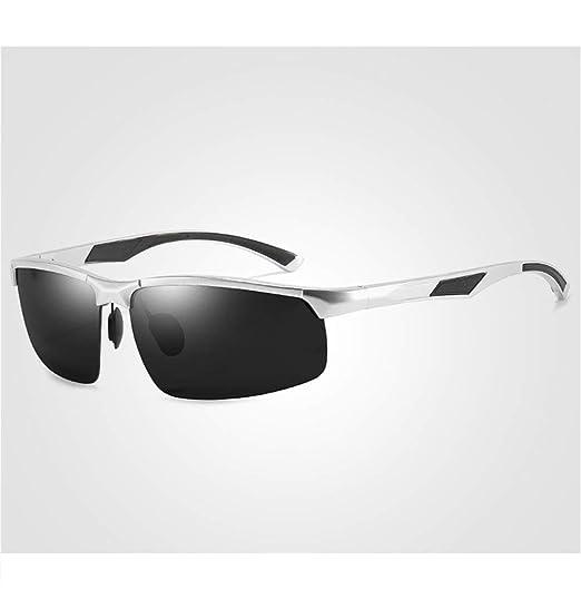 Gafas de Sol polarizadas Moda Classic Half Frame Magnesium ...