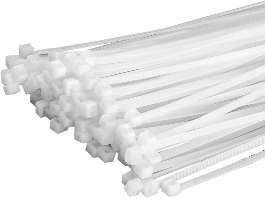 100 Stück Kabelbinder 200mmx2 5mm Für Zaunblende Bambusmatte Zaun In Weiß Garten