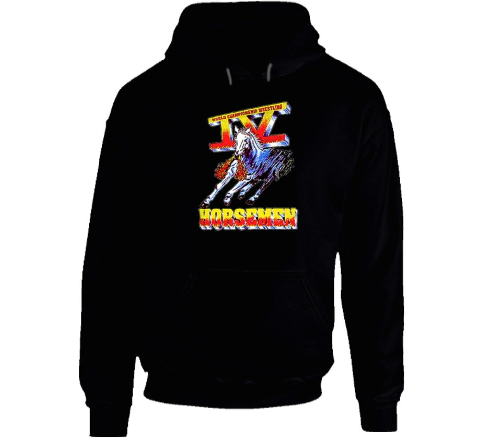Four Horsemen WCW Wrestling Hooded Pullover - Black XL Black