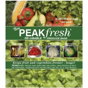 Peak Fresh Re-Usable Produce Bags **Set of Two** (20 bags total) by Peak Fresh (Peak Fresh Produce Bags)