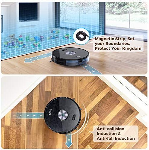 Aspirateur Robot, Muzili Aspirateur Puissant Wi-Fi Alexa Télécommande d'App Sec et Humide Silencieux Chargement Automatique Parfaite pour Poils d'Animaux [Classe énergétique A +++] - Home Robots