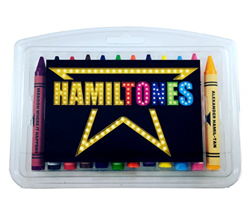 Hamiltones Crayon Set - 12 Hamilton Musical Themed Colors by Theatre Nerds