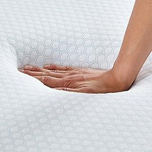 HOFISH 10 Inch Gel-infused Memory Foam Mattress, Universal Support & Enhanced Comfort, CertiPUR-US Certified, Green Tea Mattress, Queen