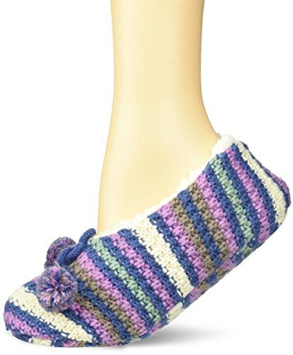 Keds Women's Multi Stripe Sherpa Slipper, true navy, Shoe Size: 4-10