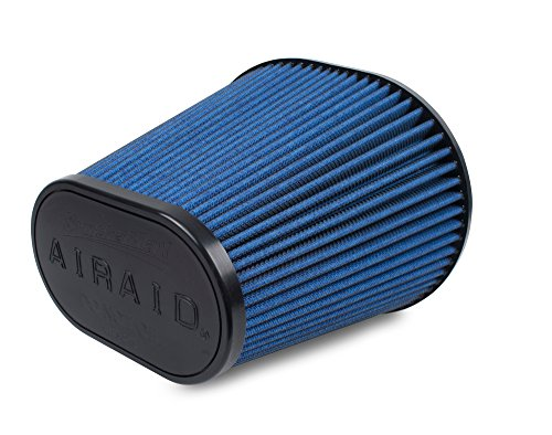 Airaid 723-243 Universal Clamp-On Air Filter: Oval Tapered; 6 in (152 mm) Flange ID; 8 in (203 mm) Height; 9.156 in x 7.5 in (233 mm x 191 mm) Base; 6.375 in x 3.875 in (162 mm x98 mm) Top