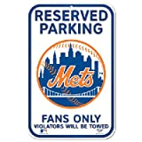 "PARKING SIGN. NEW YORK METS 11""X17 "" WINCRAFT PARKING SIGN"