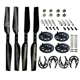 Domybest Carbon Fiber Propeller Gears Gear Guard Bearing for Parrot AR Drone 1 & 2.0 Quadcopter