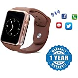 Drumstone Golden A1 Bluetooth Smart Watch with Camera for all Smartphones