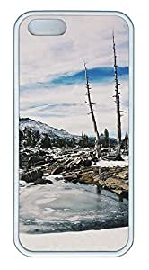 iPhone 5 5S Case landscapes nature snow lake 16 TPU Custom iPhone 5 5S Case Cover White