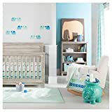 Crib Combo Sets Sale Cloud Island Oeko-TEX 4pc Blue Elephant Parade Baby Crib Bedding Set, Light Blue/Gray