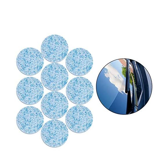HSR 10PCS/1Set Car Wiper Detergent Effervescent Tablets Washer Auto Windshield Cleaner Glass Wash Cleaning Compact
