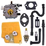 FitBest Carburetor with Air Filter Tune Up Kit for Stihl 024 026 MS240 MS260 Walbro WT-194 Chainsaws