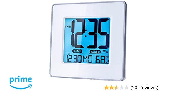 Amazon.com: Capello Self-Setting Atomic Clock with Calendar & Indoor Temperature: Home Audio & Theater