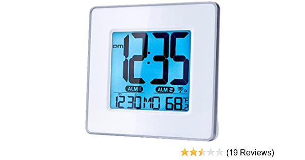 Amazon.com: Capello Self-Setting Atomic Clock with Calendar & Indoor Temperature: Home Audio & Theater