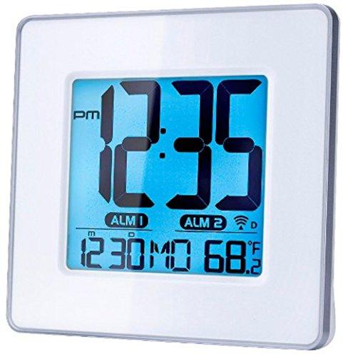 Capello Self-Setting Atomic Clock with Calendar & Indoor Temperature (Setting Atomic Clock)