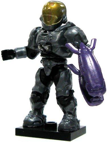 Halo Wars Mega Bloks LOOSE Mini Figure UNSC Blue Steel EVA Spartan with Energy Rifle [Series 6]