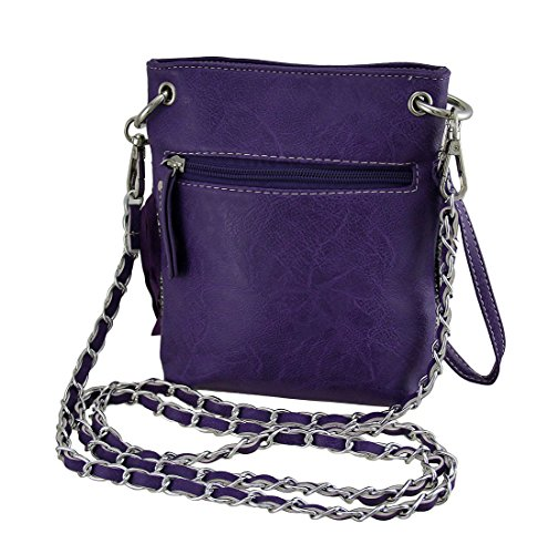 Vinyl Cross Embellished Purse Womens Style Skull Purple Western Fringe Sugar Bags Body Crossbody Stud YY6qrw