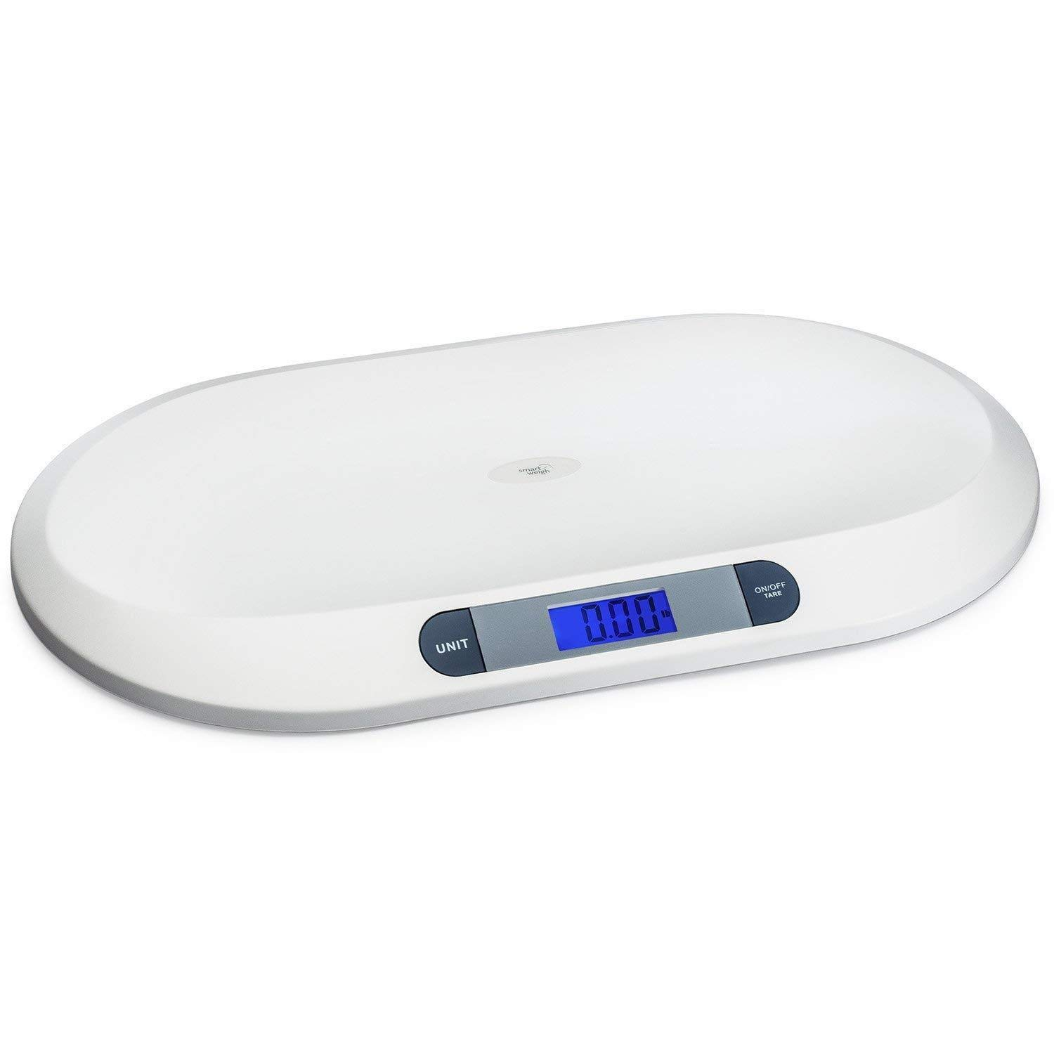 Baby Weighing Scale, Digital Baby Scale Measure Infant/Baby/Pet Weight Accurately,MAX 20KG/44pounds, Precision of 10g, Large LCD Display, Length 55cm (White)