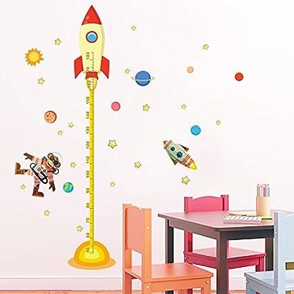 Pegatina pared vinilo decorativo medidor altura mono astronauta para ...