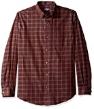 Van Heusen Men's Wrinkle Free Twill Long Sleeve Button Down Shirt, Red Pinot Noir, Large