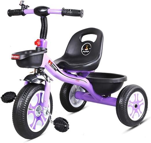 Triciclo para niños: bicicleta para bebés en bicicleta, bicicletas para niños, juguetes seguros y cómodos. Primera bicicleta para bebés de 24 a 60 meses,Púrpura: Amazon.es: Jardín