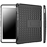 rooCASE iPad Mini 3 Case - [BLOK Armor] iPad Mini 3 2 1 Hybrid Dual Layer Rugged Case Cover with Kickstand for Apple Mini 3, 2 and 1, Black