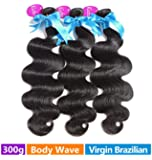 Rechoo Brazilian Virgin Hair 3 Bundle Deals 300G - Body Wave