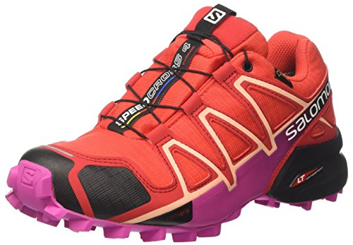 Salomon Speedcross 4 Gtx W, Zapatillas de Running para trail para Mujer Rojo (Poppy Red/Barbados Cherry/Black)