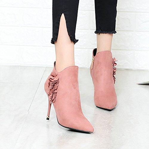 KHSKX L'Automne Bottes À Chaussures 34 Pour Dames Bottines Belles Martin Bottes Des Et Mes Bottes Et Pink L'Hiver Bottes Femmes Talons rrqUdv