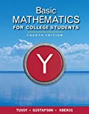 Bundle: Basic Mathematics for College Students, 4th + Enhanced WebAssign Homework with EBook Access Card for One Term Math and Science : Basic Mathematics for College Students, 4th + Enhanced WebAssign Homework with EBook Access Card for One Term Math and Science, Tussy and Tussy, Alan S., 1111116687