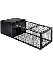 120cm Metal Rabbit Cage Hutch Guinea Pig House Run Pen Run Animal Medium W/ Tray