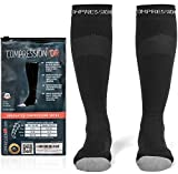 Compression Socks - Firm Knee High Graduated 20-30 mmHg - Foot Ankle Shin and Calf Support Sock - For Running Sports Travel & Recovery