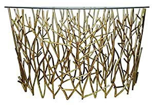Amazon Com Gold Branches Demilune Twig Console Table