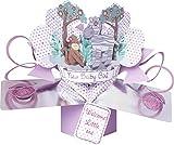 Suki Gifts International Pop Up Card Baby Girl, Multi-Colour