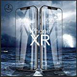 Screen Protector for iPhone XR, [2 Pack] Shatterproof Tempered Glass Screen Protector with Alignment Frame, [6.1'' Inch] 9H Anti-Fingerprint Film Screen Protector with High Definition Vision