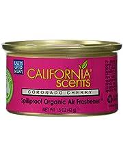 California Scents Ambientadores orgánicos a prueba de derrames, Cereza Coronado, Bote de 1.5 oz